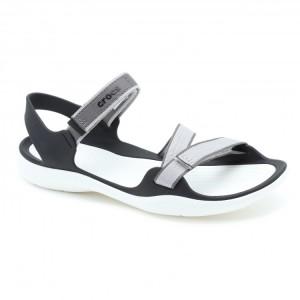 מוצרי Crocs לנשים Crocs Swiftwater Webbing Sandal - אפור