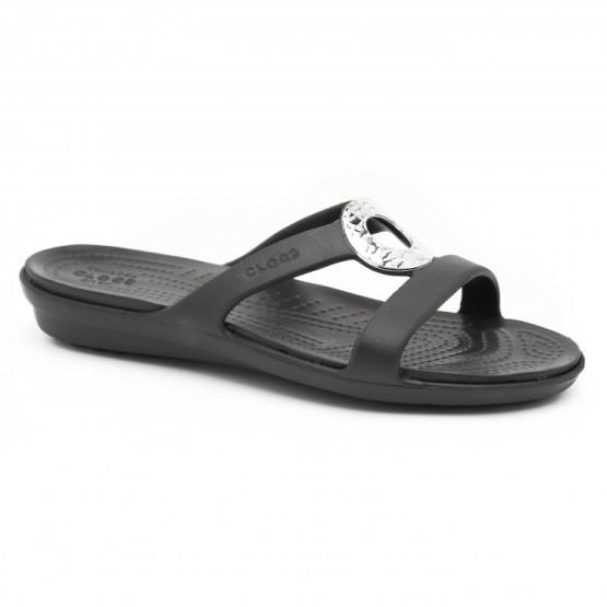 מוצרי Crocs לנשים Crocs Sanrah Hammered Met Sandal - שחור