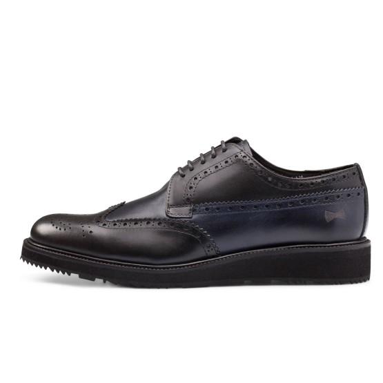 נעליים אלגנטיות פיוקו נרו לגברים FIOCCO NERO BROGUES 548 - שחור/כחול