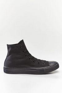 נעלי סניקרס קונברס לגברים Converse Chuck Taylor High Top - שחור מלא