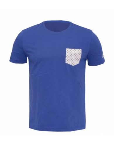 חולצות אופנה לה קוק ספורטיף לגברים Le Coq Sportif SMU Dots Pocket Tee - כחול