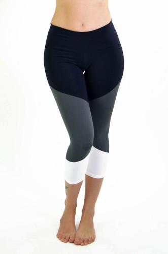 מוצרי ריו גים לנשים Rio Gym Layla Capri - שחור/אפור