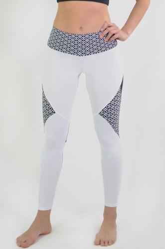 ביגוד ריו גים לנשים Rio Gym Lenise Legging - אפור/לבן