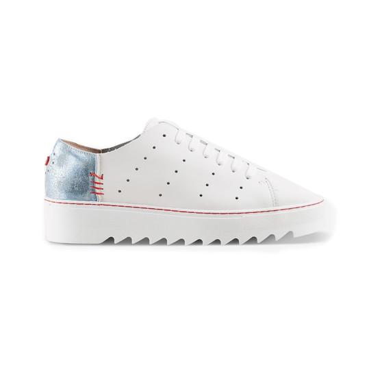 נעליים נו ברנד לנשים NOBRAND Grit - כחול/לבן