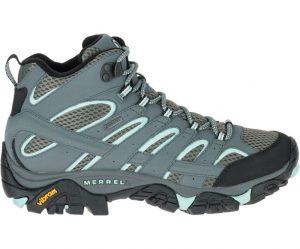 נעלי טיולים מירל לנשים Merrell Moab 2 Mid Gore Tex - אפור/ירוק