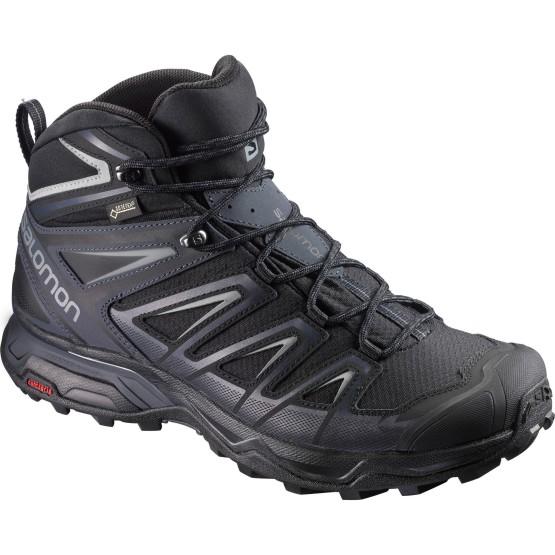 נעלי טיולים סלומון לגברים Salomon X Ultra 3 Mid GTX - שחור/אפור