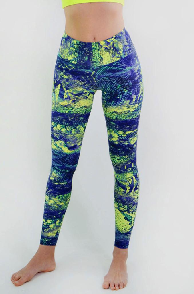 מוצרי ריו גים לנשים Rio Gym Libi Legging - כחול/צהוב