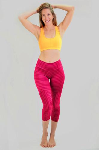 מוצרי ריו גים לנשים Rio Gym Joanna Capri - בורדו