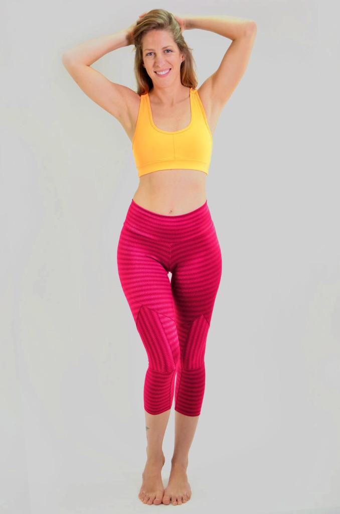 ביגוד ריו גים לנשים Rio Gym Joanna Capri - בורדו
