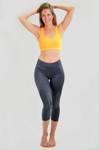 מוצרי ריו גים לנשים Rio Gym Joanna Capri - אפור