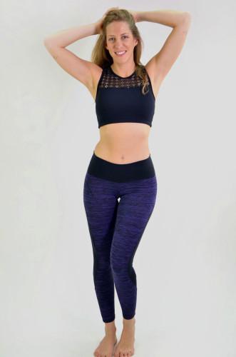 ביגוד ריו גים לנשים Rio Gym Michelle Legging - סגול