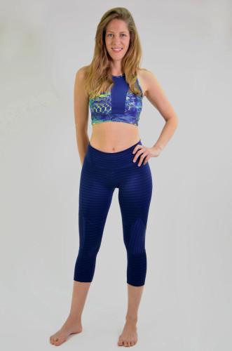 ביגוד ריו גים לנשים Rio Gym Joanna Capri - כחול
