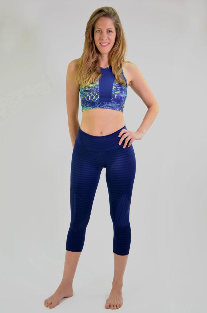 מוצרי ריו גים לנשים Rio Gym Joanna Capri - כחול