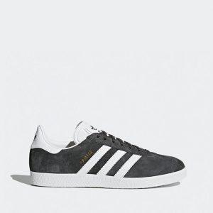 נעלי סניקרס אדידס לגברים Adidas Originals GAZELLE - אפור