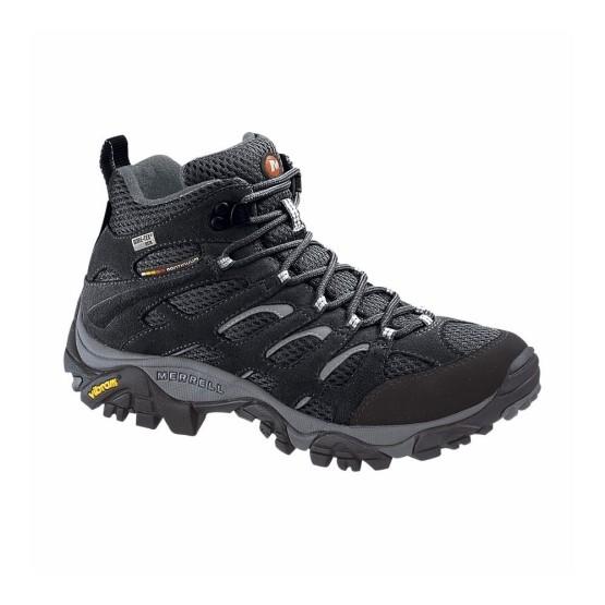 נעלי טיולים מירל לגברים Merrell Moab Mid - שחור