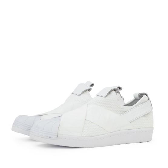 נעלי הליכה Adidas Originals לנשים Adidas Originals SUPERSTAR SLIPON - לבן