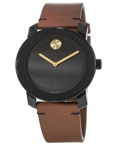 מוצרי מובאדו לגברים Movado Bold Mens Watch Brown - שחור/חום