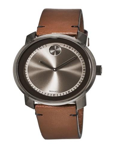 מוצרי מובאדו לגברים Movado Bold Swiss Rustic Brown - חום/אפור