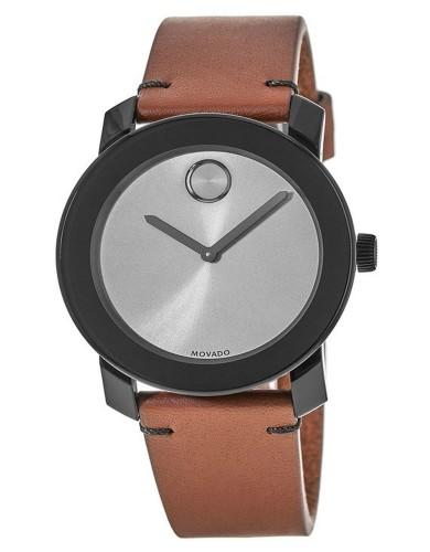 מוצרי מובאדו לגברים Movado Bold Grey Dial Brown Leather - חום/שחור