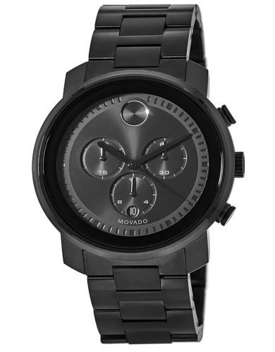 מוצרי מובאדו לגברים Movado Bold Black Chronograph Dial - שחור