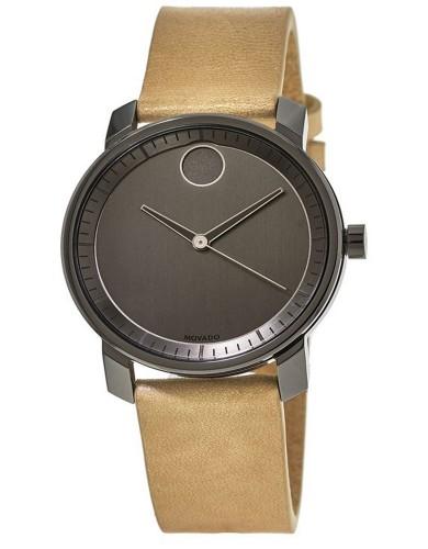 מוצרי מובאדו לגברים Movado Bold Grey Dial Beige Leather - זהב