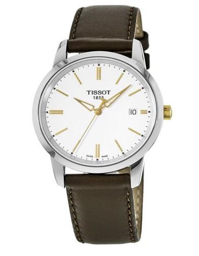 מוצרי תיסוט לגברים Tissot T Classic - חום/לבן
