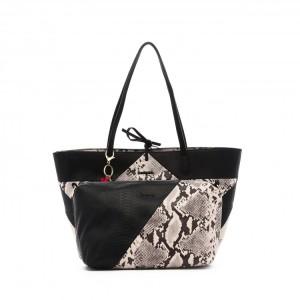 מוצרי דסיגואל לנשים Desigual Bols Snake Color Patch Capri - שחור