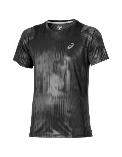 ביגוד אסיקס לגברים Asics FuzeX Printed Tee - אפור/שחור