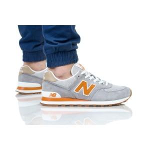 נעליים ניו באלאנס לגברים New Balance ML574 - אפור/כתום