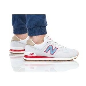נעליים ניו באלאנס לגברים New Balance ML574 - אפור/אדום