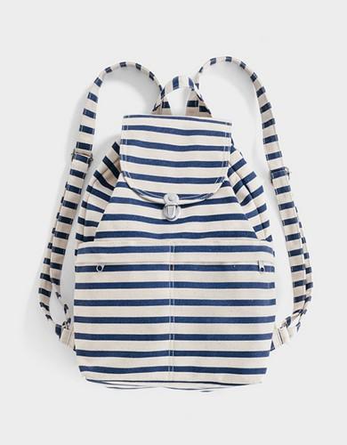 אביזרים באגו לנשים BAGGU Backpack - כחול/לבן