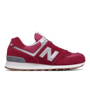נעליים ניו באלאנס לגברים New Balance ML574 - בורדו/אדום