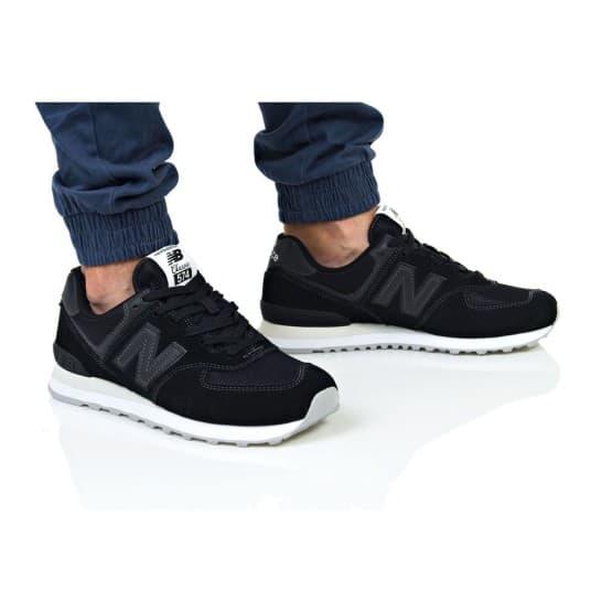 נעליים ניו באלאנס לגברים New Balance ML574 - שחור/לבן