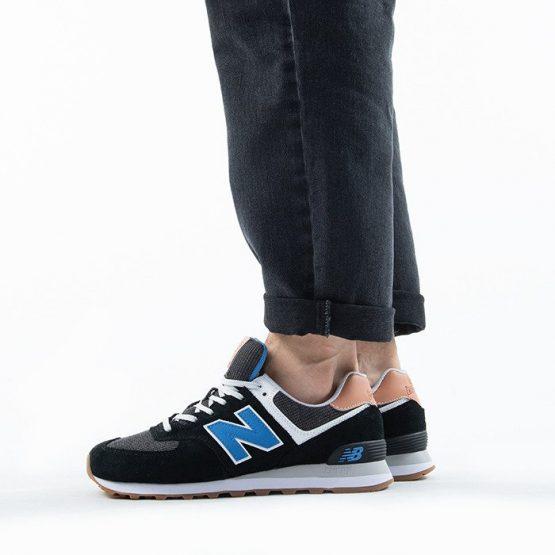 נעלי סניקרס ניו באלאנס לגברים New Balance ML574 - שחור/כחול