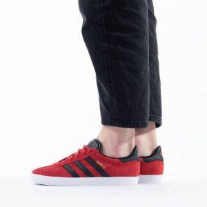 נעלי סניקרס אדידס לנשים Adidas Originals GAZELLE - שחור/אדום