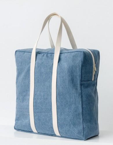 אביזרים באגו לנשים BAGGU Safari Bag - כחול/לבן