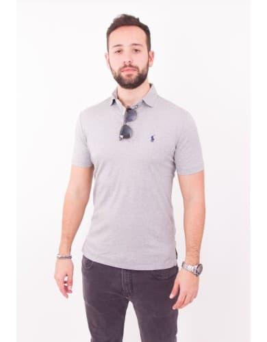 ביגוד פולו ראלף לורן לגברים Polo Ralph Lauren Pima Soft Touch Polo Shirt - אפור בהיר