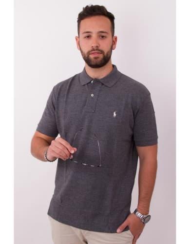 ביגוד פולו ראלף לורן לגברים Polo Ralph Lauren Classic Fit Polo Shirt - אפור