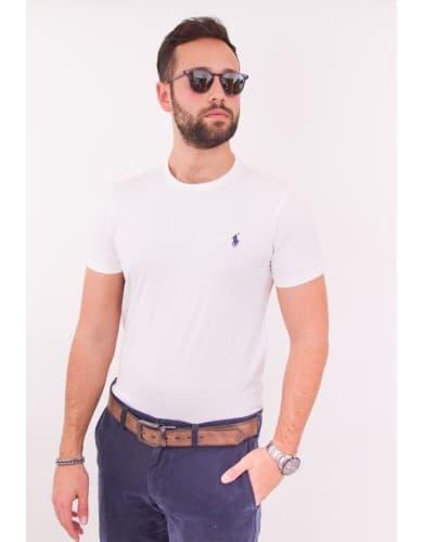 ביגוד פולו ראלף לורן לגברים Polo Ralph Lauren Polo T Shirt - לבן