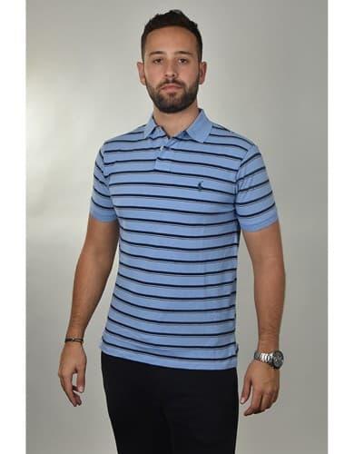 ביגוד פולו ראלף לורן לגברים Polo Ralph Lauren Custom Fit Polo Shirt - תכלת