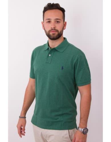 ביגוד פולו ראלף לורן לגברים Polo Ralph Lauren Custom Fit Polo Shirt - ירוק