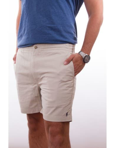 ביגוד פולו ראלף לורן לגברים Polo Ralph Lauren Classic Fit Polo Shorts - אפור בהיר