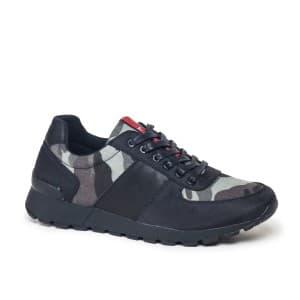 נעליים אל איי פולו  לגברים LA POLO 8198 - שחור/ירוק