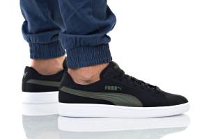 נעלי סניקרס פומה לגברים PUMA SMASH V2 BUCK - שחור/ירוק