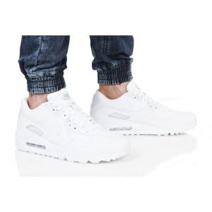 נעלי הליכה נייק לגברים Nike AIR MAX 90 LEATHER - לבן