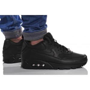 נעלי הליכה נייק לגברים Nike AIR MAX 90 LEATHER - שחור