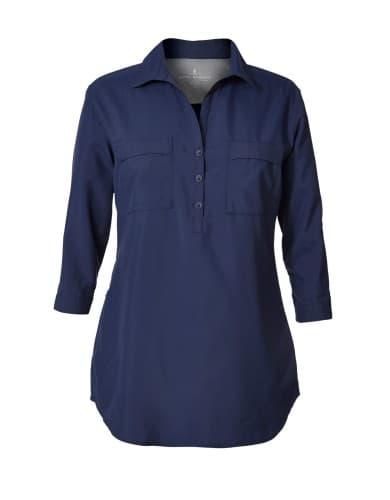 ביגוד רויאל רובינס לנשים Royal Robbins EXPEDITION CHILL STRETCH TUNIC - כחול