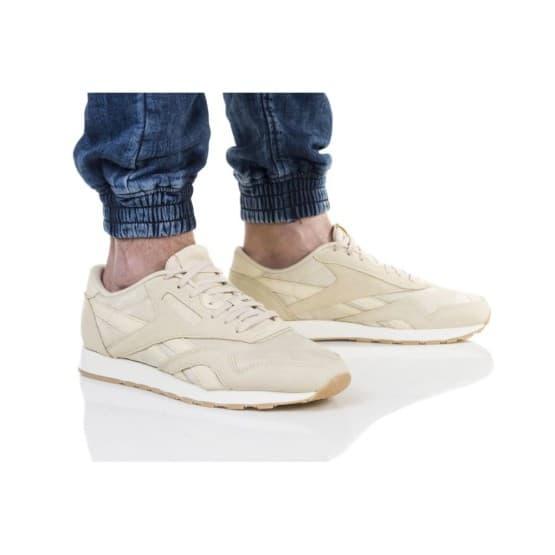 נעליים ריבוק לגברים Reebok CL NYLON SG - בז'