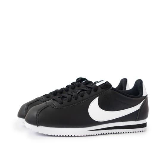 נעליים נייק לנשים Nike CLASSIC CORTEZ LEATHER - שחור/לבן