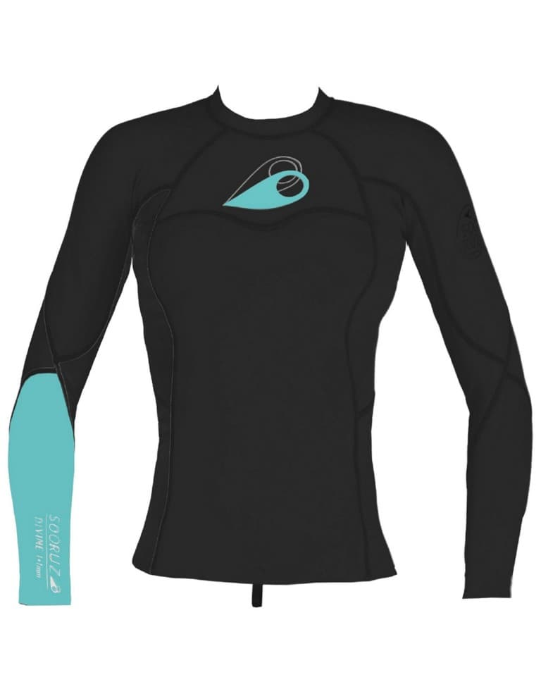בגדי ים סורוז לנשים Sooruz Divine Top - שחור/תכלת
